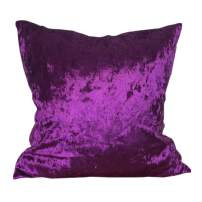 Fashion Shiny Polyester Ice Crushed Velvet Throw Pillow Cover Modern Solid Colors Decorative Cushion Covers (Dark Purple, 55x55cm (21.7x21.7))