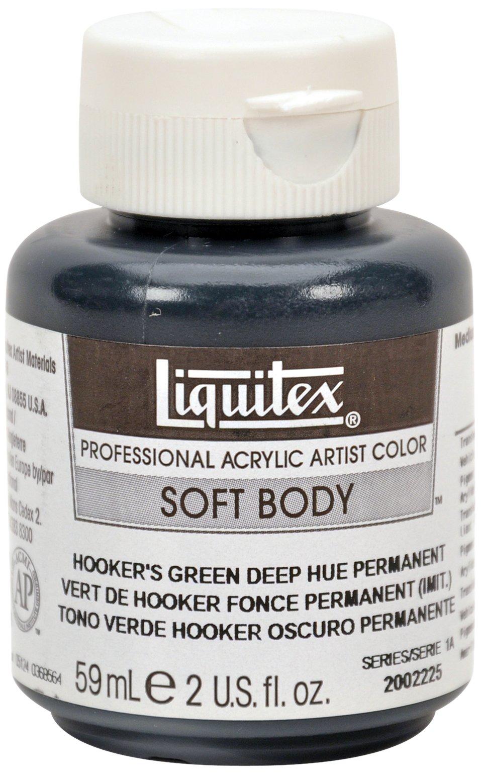 Liquitex 2002225 Professional Soft Body Acrylic Paint 2-oz jar, Hooker's Green Deep Hue Permanent