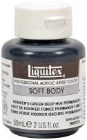 Liquitex 2002225 Professional Soft Body Acrylic Paint 2-oz jar, Hooker's Green Deep Hue Permanent