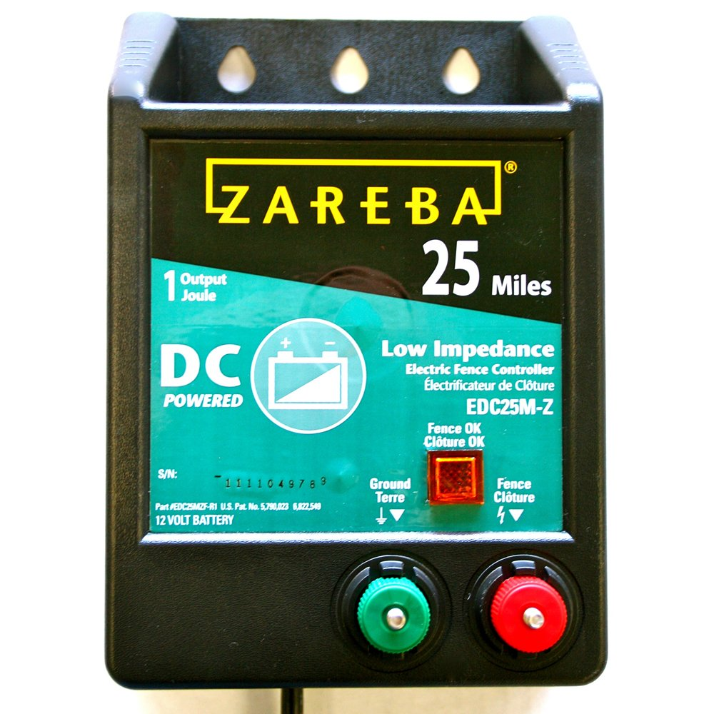 Zareba EDC25M-Z 25-Mile Battery Operated Low Impedance Electric Fence Charger