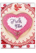 NobleWorks, Funny Valentines Card for Adults (8.5 x 11 Inch) - Big Naughty Greeting Card for Valentine's Day - F-ck Me J2090