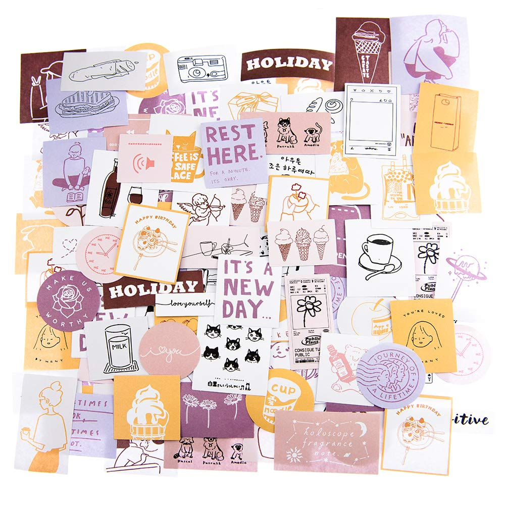 MOLNESO 240 Pieces Cute Scrapbook Stickers for Planner, Laptop, Journaling, Aesthetic Stickers for Journaling, Teens, Girly Sticker Pack