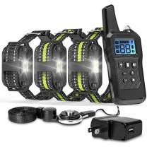 FunniPets Dog Training Collar, Dog Shock Collar 2600ft Remote Range Waterproof Shock Collar for 3 Dogs with 4 Training Modes Light Static Shock Vibration Beep