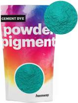 Hemway Cement Dye Powder Pigment Concrete Color Render Mortar Pointing Powdered Brick Toner Plaster (100g / 3.5oz, Metallic Jade Green)