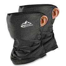 Unisex Seamless Neck Gaiters Bandanas - Hanging Ear Dust Proof Windproof Sunscreen Breathable Bandana for Sport&Outdoor