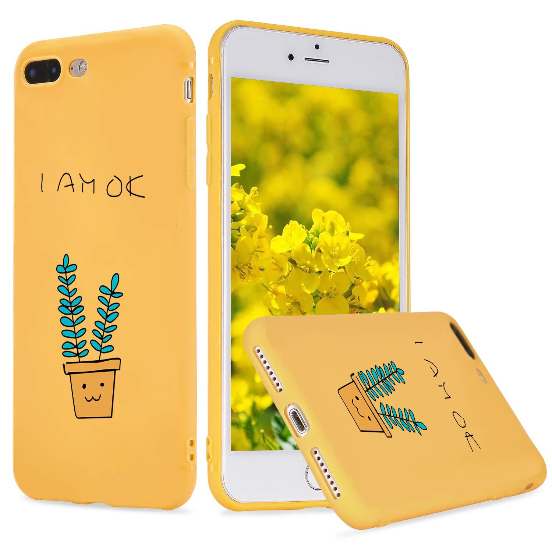 LuGeKe Plants Phone Case for iPhone11,Cute Cartoon Patterned I AM OK Design Case Cover,Soft TPU Cover Flexible Ultra Slim Anti-Stratch Bumper Protective Cute Cartoon Phonecase(I AM OK)