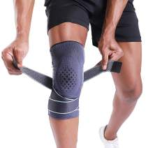 """BERTER Knee Braces for Men, Women Knee Compression Support for Running Knee Stability (Advanced Protection, Small(14-15.5""""))"""
