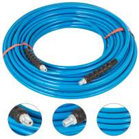 Happybuy 1/4 Inch Pressure Washer Hose 150Ft Power Washer Hose 3000PSI Carpet Cleaning Hose for Cold Water Replacement Extension Hose