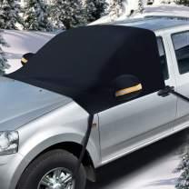 "Winter Snow Windshield Cover for Car 93"" x 53"", Ohuhu Snow and Ice Car windshield Cover Fits Most Car Truck SUV Sedan"