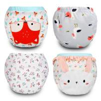 4 Pack Cotton Training Pants Toddler Potty Training Underwear for Baby Girls-4T