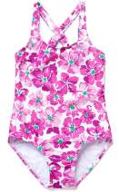 Anwell Girls One Piece Swimsuits Hawaiian Ruffle Swimwear Beach Bathing Suit