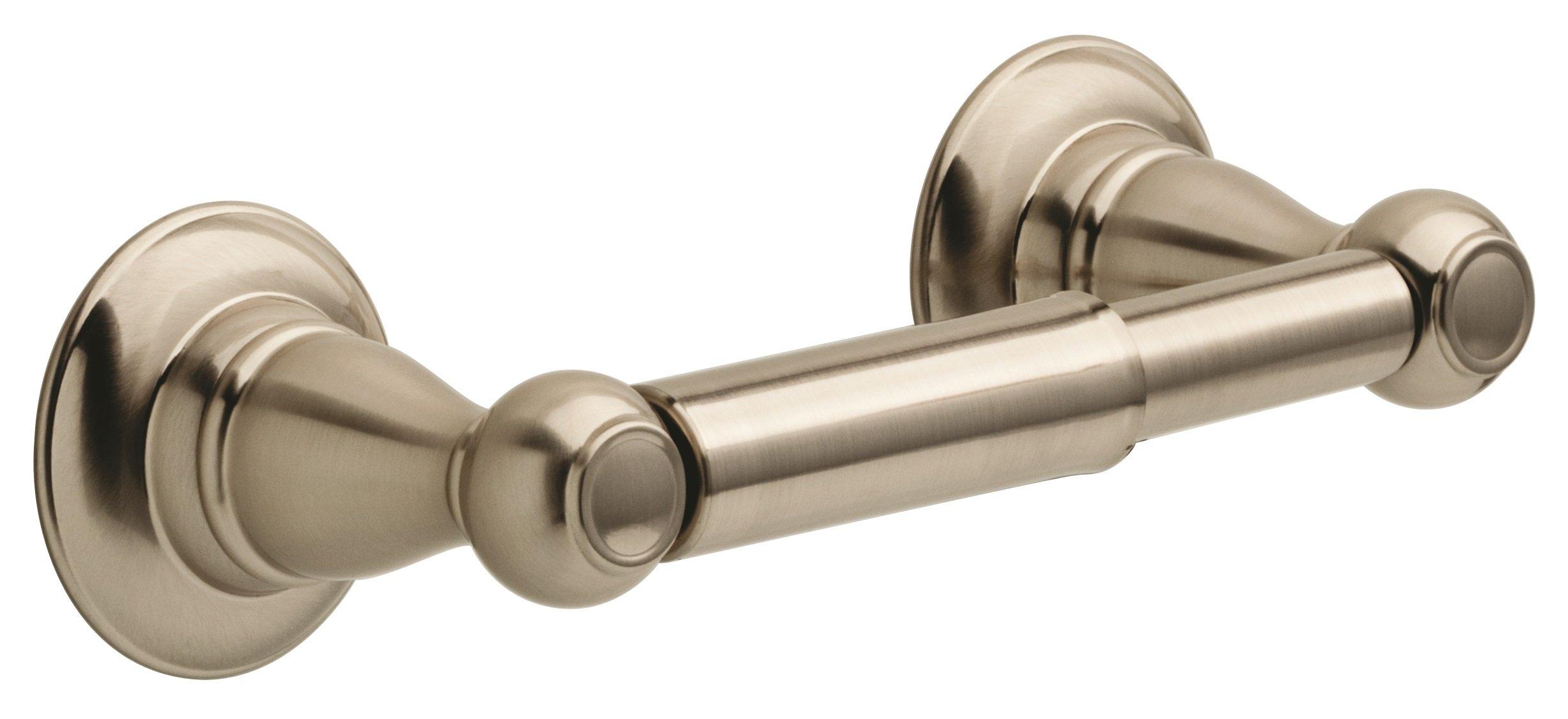 Delta Faucet PTR50-BN Porter Toilet Paper Holder, Spotshield Brushed Nickel