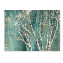 Blue Birch by Julia Purinton, 14x19-Inch Canvas Wall Art