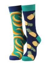 Mens Novelty Funny Socks Colorful Crazy Dress Socks Golf Guitar Cat Pattern Crew Casual Socks