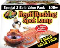 Zoo Med Repti Basking Spot Bulb, 100 watt, E27 Threaded Base, Set of 2 Bulbs - 1