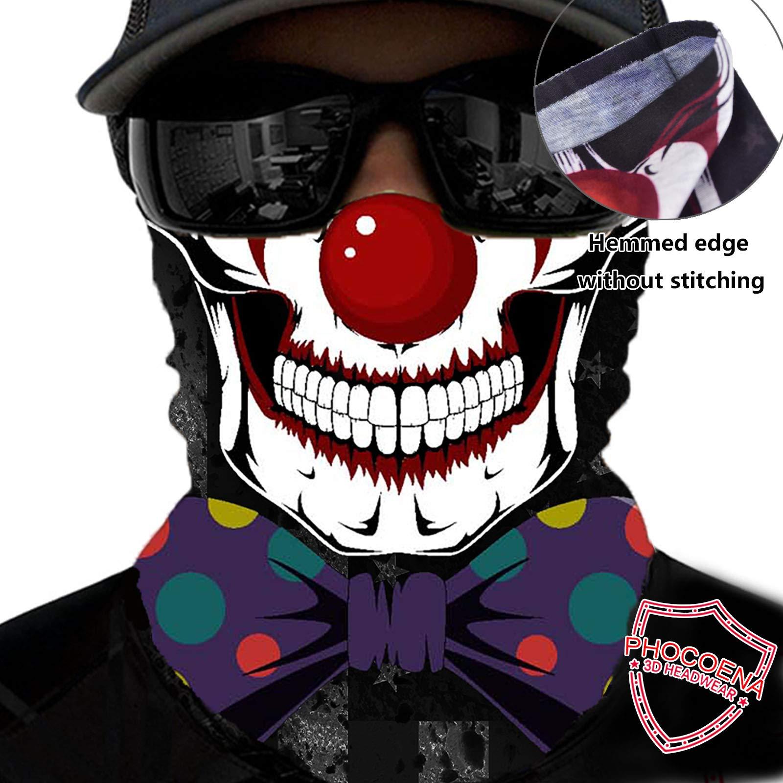 PHOCOENA Tubular Bandana Face Mask Neck Gaiter