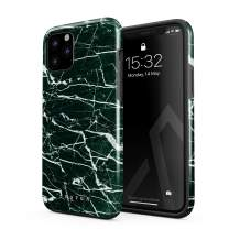 BURGA Phone Case Compatible with iPhone 11 PRO MAX - Jade Stone Green Marble Cute Case for Girls Heavy Duty Shockproof Dual Layer Hard Shell + Silicone Protective Cover