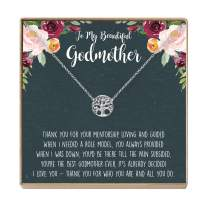 Godmother Necklace - Heartfelt Card & Jewelry Gift for Baptism, Holidays & More