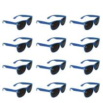 12 Pack Retro Sunglasses Bulk for Kids Adults Party Favors