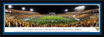 West Virginia Mountaineers Football - Stripe Game - End Zone View - Blakeway Panoramas Print