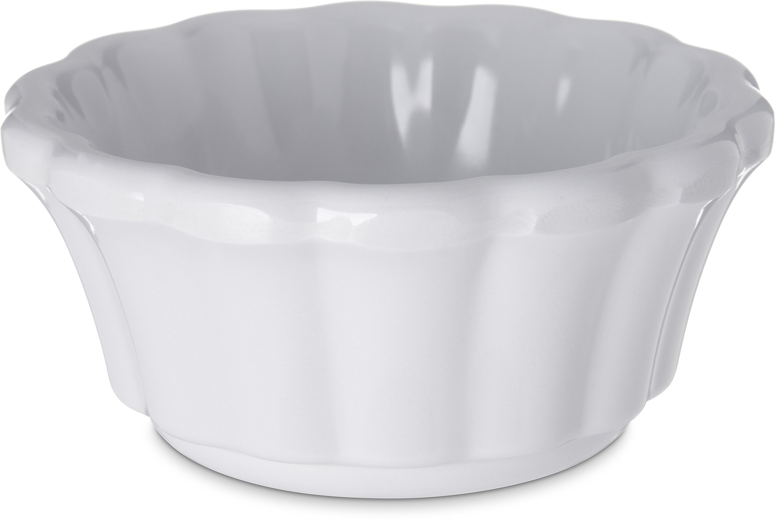 Carlisle 4394402 Melamine Scalloped Ramekin, 3 oz, White (Pack of 48)