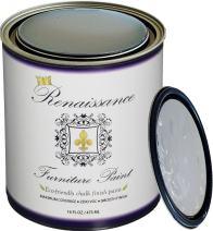 Retique It Chalk Finish Paint by Renaissance - Non Toxic, Eco-Friendly Chalk Furniture & Cabinet Paint - 16 oz (Pint), Innocence