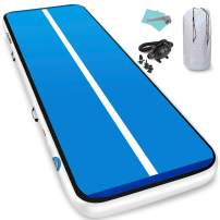 Furgle Air Track 10ft/13ft/16ft/20ft Tumble Track Inflatable Gymnastic Mat, 4/6/8 inches Thickness Tumbling Air Track for Gymnastics/Yoga/Cheerleading Mat