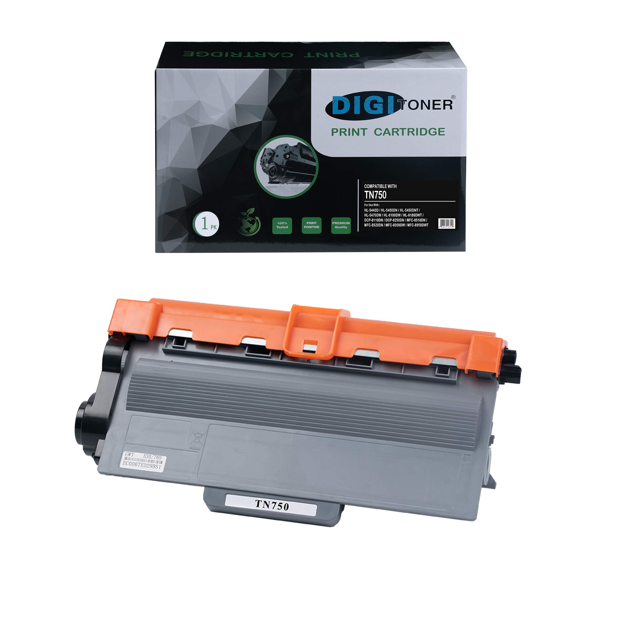 DIGITONER Compatible TN750 TN720 Toner Cartridge – TN-750 TN-720 High Yield Toner Cartridge Replacement for Brother Laser Printer – Black [1 Pack]