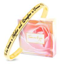 """FJ FREDERICK JAMES Mother Daughter Bracelets - """"The Love Between a Mother & Daughter"""" Birthday Gifts for Mom from Daughter 