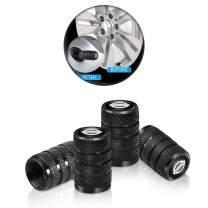 4 Pcs Metal Car Wheel Tire Valve Stem Caps for Nissan Versa Sentra Altima Rogue Murano Pathfinder Frontier Titan Logo Styling Black Decoration Accessories