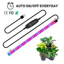 Full Spectrum led Strip, TBTeek Grow Light Strip Light with Auto ON & Off Function, 3/9/12H Timer, 5 Dimmable Levels and 3 Switch Modes for Indoor Plants, Red/Blue Spectrum