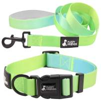 Cool Green Ombre Dog Collar with Optional Matching Leash Set. Perfect Designer Set for Girl Dogs or boy Dogs. Great for Easter or Spring and Summer