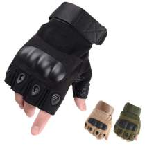 LYGLO Mens Half Finger Gloves Army Military Fingerless Combat Outdoor Cycling Tactical Gloves