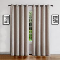 "Warm Home Designs 1 Panel of Long Size Ivory Cream 54"" (Width) by 96"" (Length) Textured Room Darkening Curtains with Embossed Damask Flower Pattern. Drapes Allow Privacy & Reduce Noise. EV Ivory 54x96"