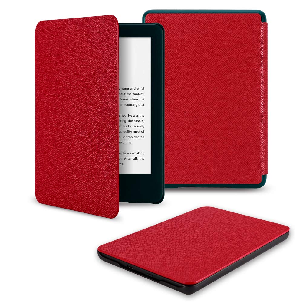 VSER All-New Kindle Basics 2019 Case Cover,(Not Fit Any Kindle Paperwhite ) Thinnest Lightweight Protective Shell Cover with Auto Wake/Sleep, Fits for All-New Kindle 10th Gen 2019 Released Only(Red)