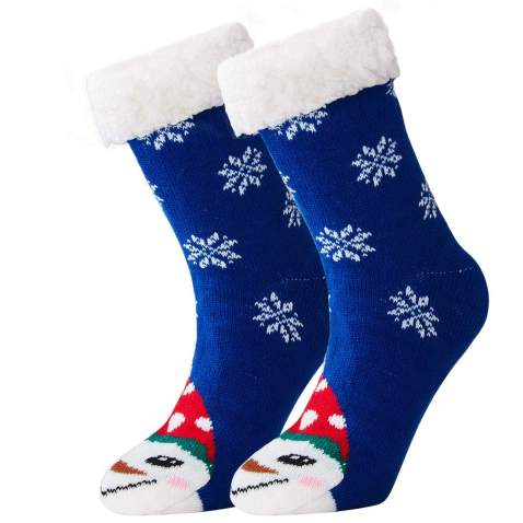 Loveternal Womens Teen Girls Cute Non Slip Christmas Socks Warm Cozy Mid Half Fuzzy Thick Crew Socks Festival Gift