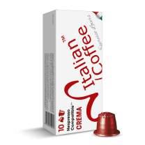 100 Delicitaly pods compatible with Nespresso machines, Italian Expresso capsules (Crema)