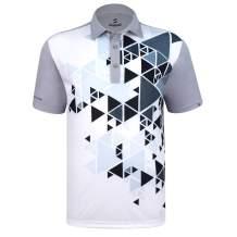 SAVALINO Men's Bowling Polo Shirts Material Wicks Sweat & Dries Fast, Size S-5XL