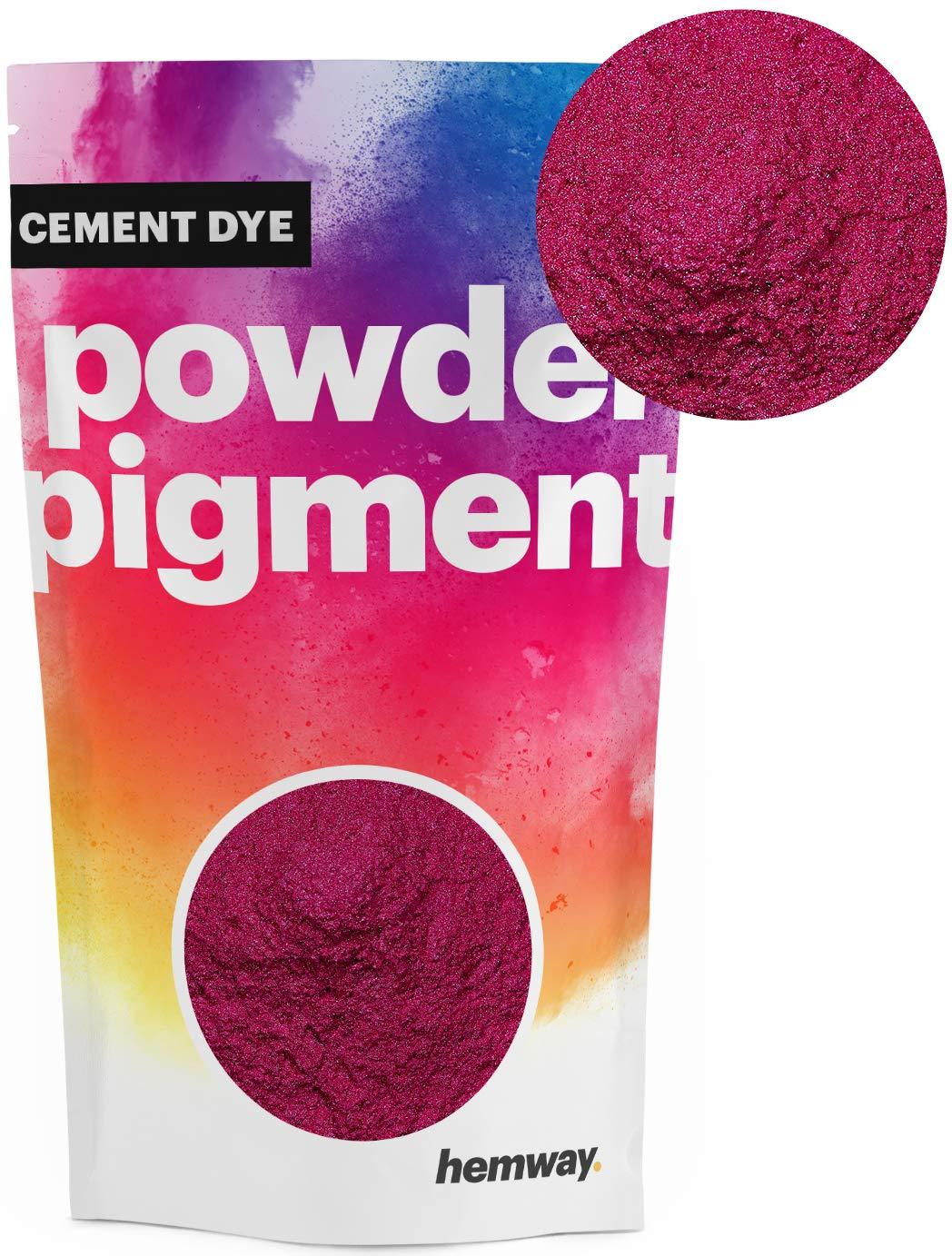 Hemway Cement Dye Powder Pigment Concrete Color Render Mortar Pointing Powdered Brick Toner Plaster (100g / 3.5oz, Metallic Cerise Pink)