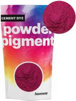 Hemway Cement Dye Powder Pigment Concrete Color Render Mortar Pointing Powdered Brick Toner Plaster (100g / 3.5oz, Metallic Cerise Pink)
