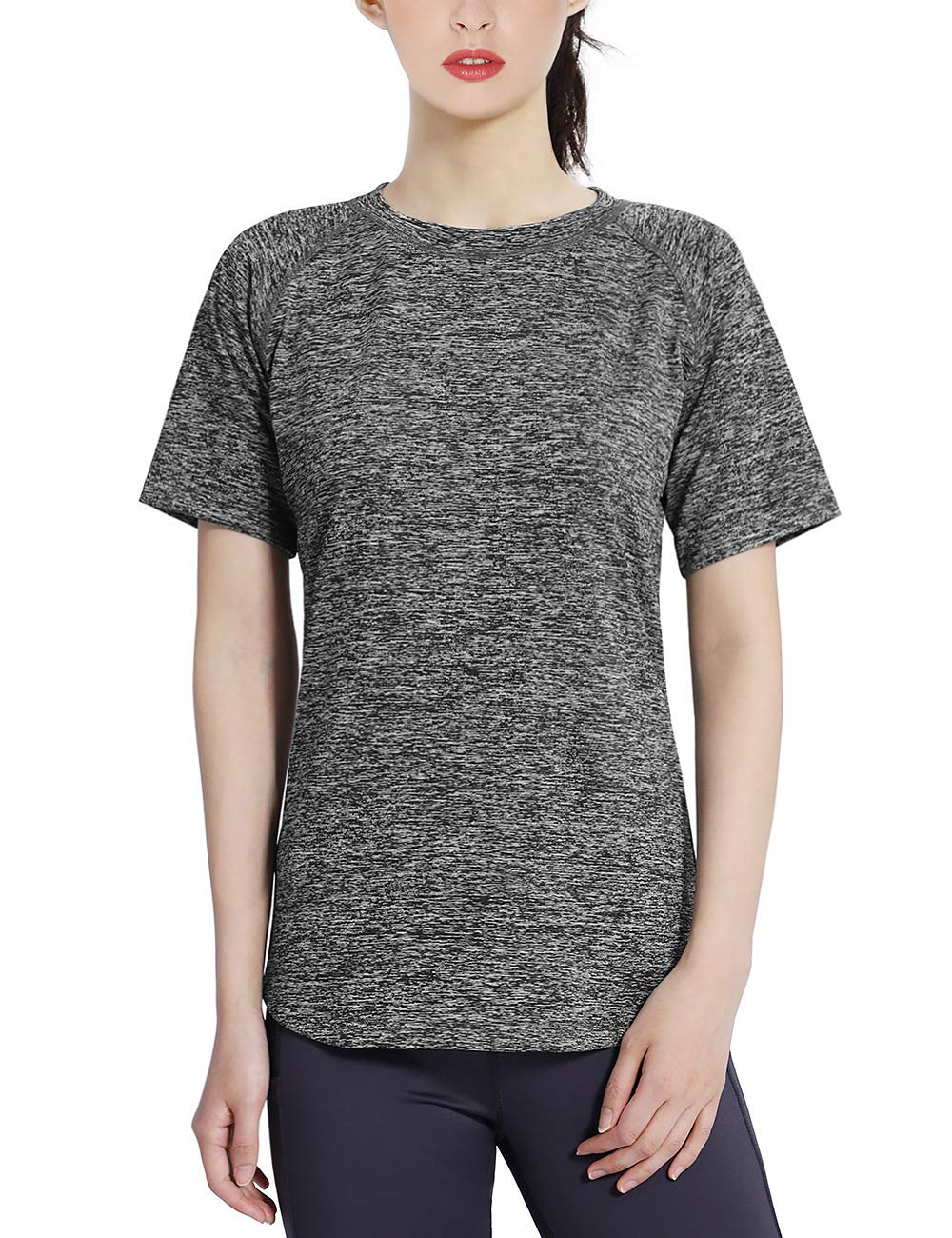 DISHANG Women's Short Sleeve T-Shirt Dry-Fit Cool Activewear Tops
