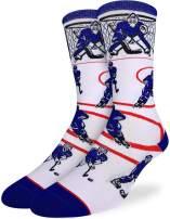 Good Luck Sock Men's Hockey, Blue & White Socks - Blue, Adult Shoe Size 7-12