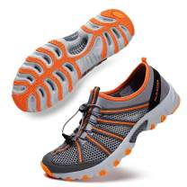 ALEADER Mens Water Hiking Shoe, Breathable, Wet-Traction Grip