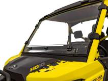 SuperATV Heavy Duty Scratch Resistant Vented Full Windshield for Can-Am Defender HD 5/8 / 10 / MAX (2016+) - Hard Coated for Extreme Durability - Easy to Install!