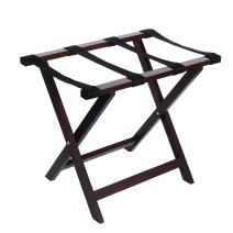 WELLAND Wood Foldable Luggage Rack Luggage Stand Holder for Suitcase for Home Bedroom Guestroom, Espresso