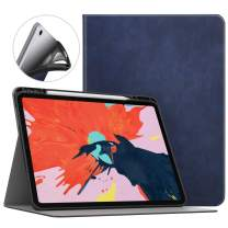 """MoKo Case Fit iPad Pro 12.9"""" 2018 with Pencil Holder [Support Magnetically Attach Charging/Pairing Feature] Premium Light Weight Shock Proof Stand Folio Cover with Auto Wake/Sleep - Indigo"""