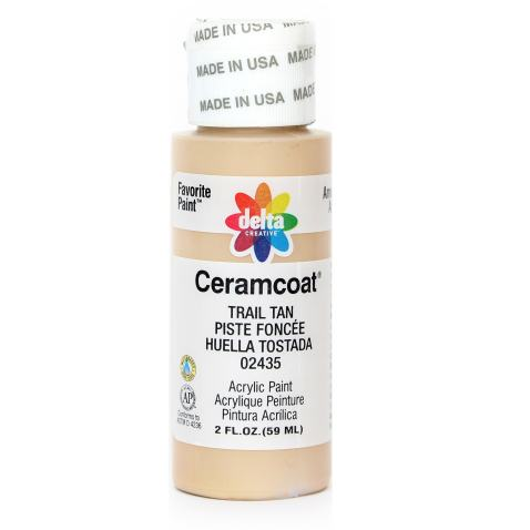 Delta Creative Ceramcoat Acrylic Paint in Assorted Colors (2 oz), 2435, Trail Tan
