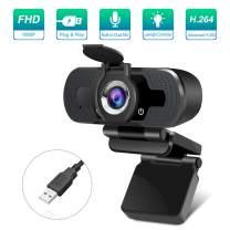 1080P Webcam with Microphone Noise Reduction, HD Webcam for Laptop Desktop PC, Streaming Webcam Computer Video Camera USB Webcam Compatible Mac Windows Chrome, Plug & Play