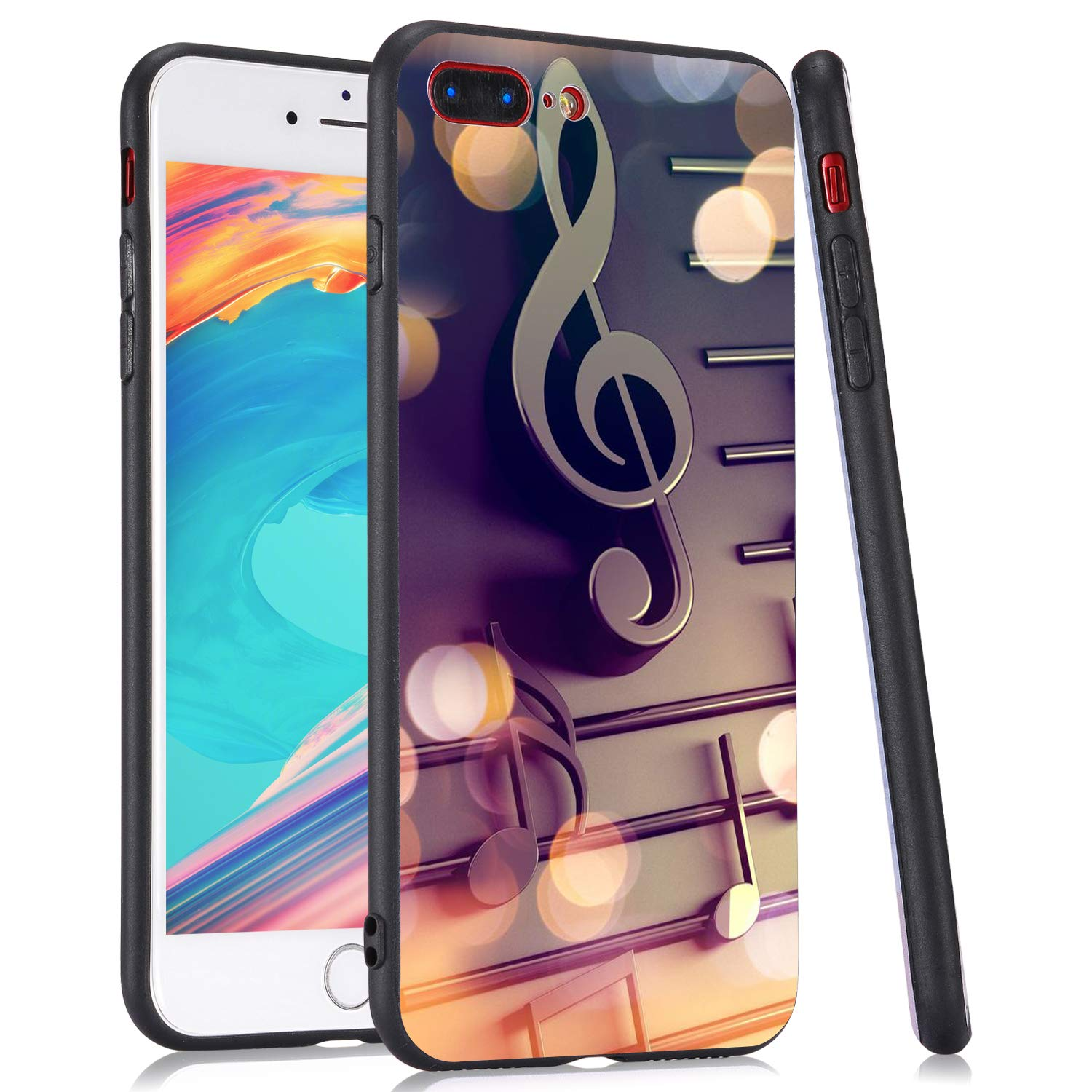 LuGeKe Music Note Phone Case for iPhone11,Cute Music Patterned Case Cover,HardPCBackwithTPUBumperAnti-Stratch Bumper Protective Cute Girls Phonecase