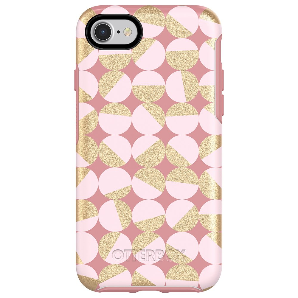 OtterBox SYMMETRY SERIES Case for iPhone SE (2nd gen - 2020) and iPhone 8/7 (NOT PLUS) - Retail Packaging - MOD ABOUT YOU (PALE BEIGE/BLUSH/MOD DOTS)